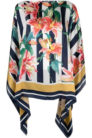 MC2 SAINT BARTH Women Beach Dresses - Hibiscus-print silk kaftan