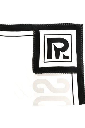 Moschino Embroidered-edge logo scarf