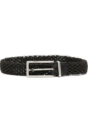 Bottega Veneta Men Belts - Macramé leather belt