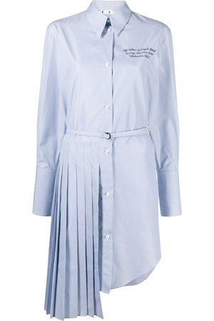 OFF-WHITE Draped-detail shirtdress
