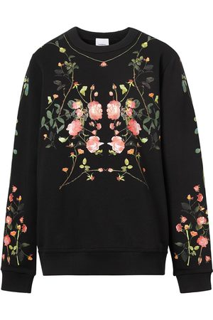 Burberry Rose-print crew-neck sweatshirt