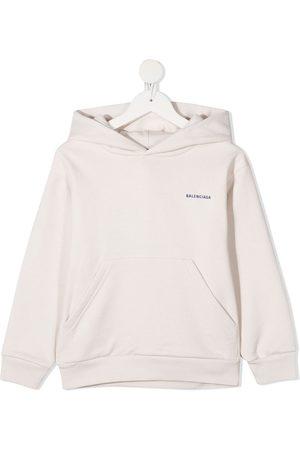 Balenciaga Logo print hoodie - Neutrals