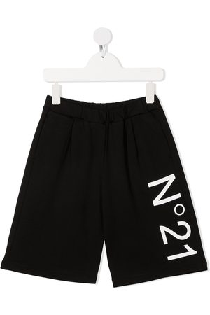 Nº21 Logo-print track shorts