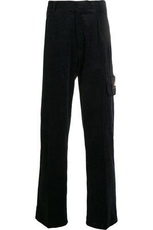 QASIMI Straight-leg logo patch trousers