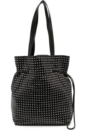 10 CORSO COMO Spot print leather bucket shoulder bag