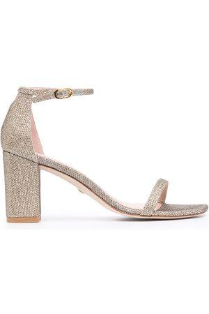 Stuart Weitzman Women Sandals - Glitter-effect heeled sandals