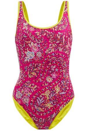 Etro Paisley-print Scoop-neck Swimsuit - Womens - Multi