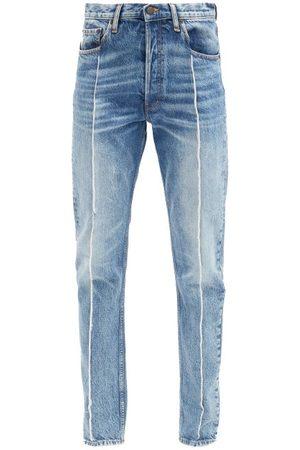 Maison Margiela Distressed High-rise Straight-leg Jeans - Womens - Denim