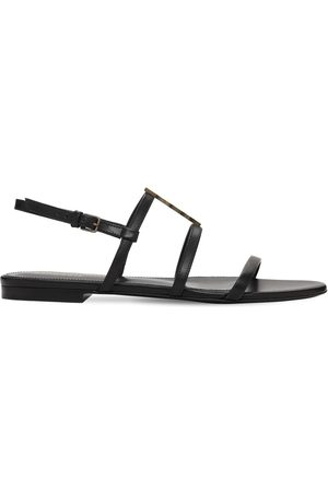 Saint Laurent Women Sandals - 10mm Cassandra Leather Sandals