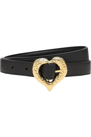 Saint Laurent 2cm Heart Slim Leather Belt