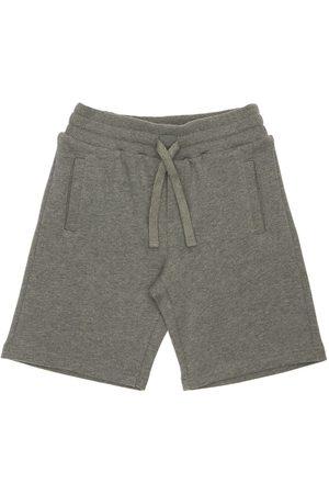 Dolce & Gabbana Logo Tag Cotton Sweat Shorts