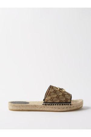 Gucci Women Espadrilles - GG Supreme Espadrille Slides - Womens - Multi