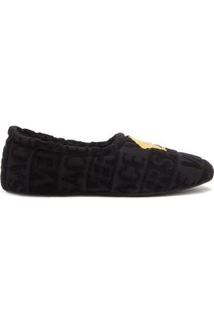 VERSACE Men Slippers - Medusa-embroidered Terry-towelling Slippers - Mens