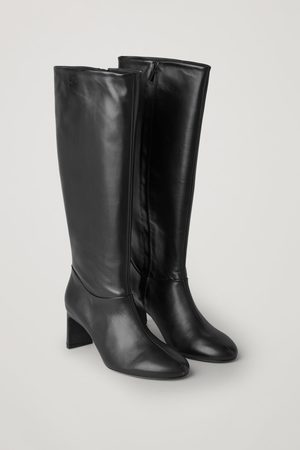 COS Women Thigh High Boots - KNEE HIGH HEELED LEATHER BOOTS