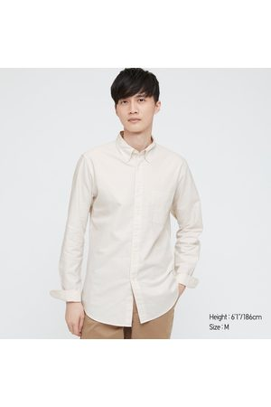 UNIQLO Men's Oxford Striped Slim-Fit Long-Sleeve Shirt, , XXS
