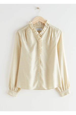 & OTHER STORIES Women Blouses - Button Up Ruffle Blouse