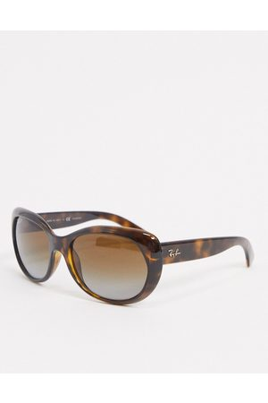 Ray-Ban Oversized round sunglasses in tort