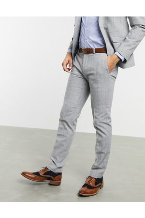 Shelby & Sons Skinny Pants - Slim suit pants in check