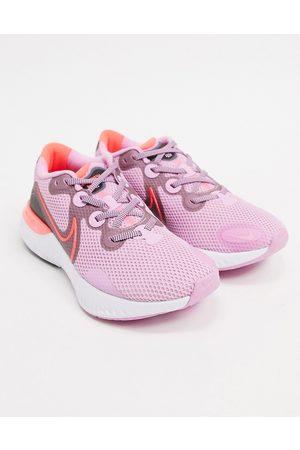 Nike Renew Run sneakers in and red