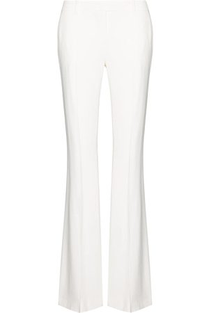 Alexander McQueen Women Wide Leg Pants - Mid-rise flared trousers