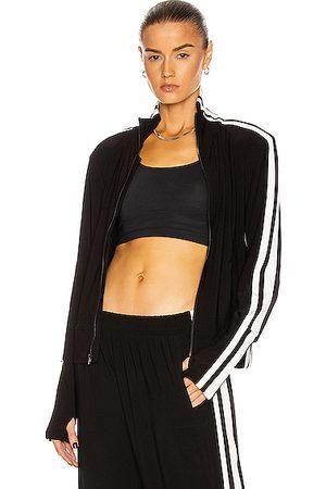 Norma Kamali Side Stripe Turtleneck Jacket in ,Stripes