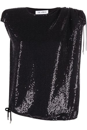 The Attico Sequined drawstring waist top
