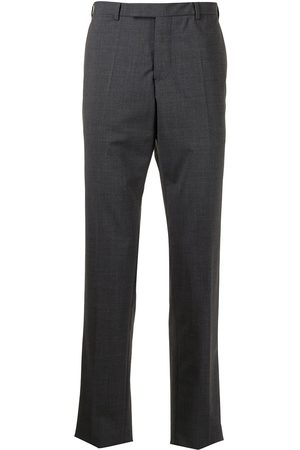 Emporio Armani High-waisted tailored trousers - Grey