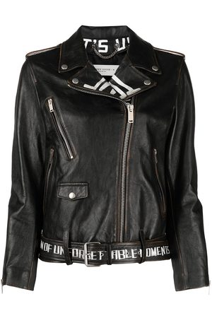Golden Goose Graffiti print leather jacket