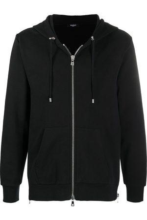 Balmain Logo-print zip-up hoodie