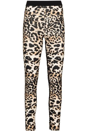 Paco rabanne Leopard print stretch-fit leggings - Neutrals