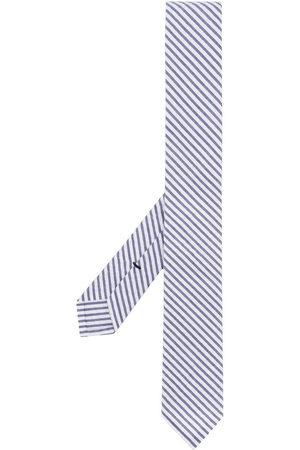 Thom Browne Seersucker stripe tie - 415 Navy