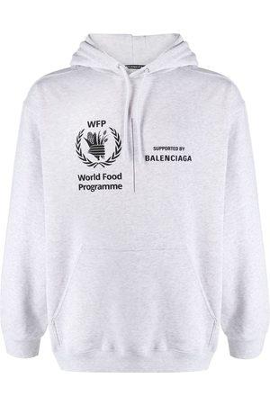 BALENCIAGA Men Hoodies - WFP printed hoodie - Grey