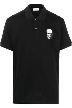 Alexander McQueen Skull patch cotton polo shirt