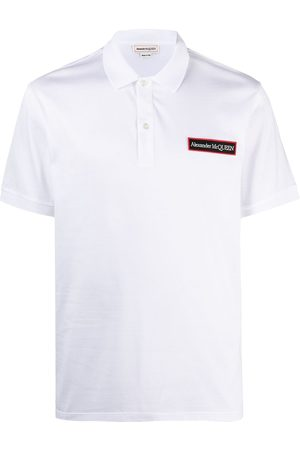 Alexander McQueen Logo patch cotton polo shirt