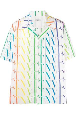 VALENTINO Men Shirts - VLTN Times logo-print shirt