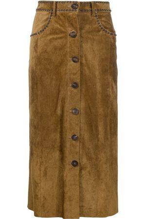 Golden Goose Studded mid-length skirt
