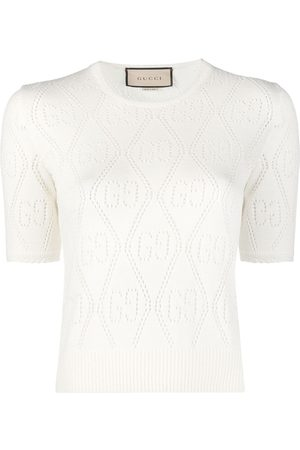 Gucci GG pointelle-knit knitted top - Neutrals