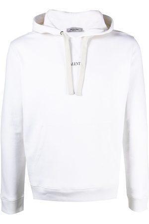 VALENTINO Logo-print drawstring hoodie