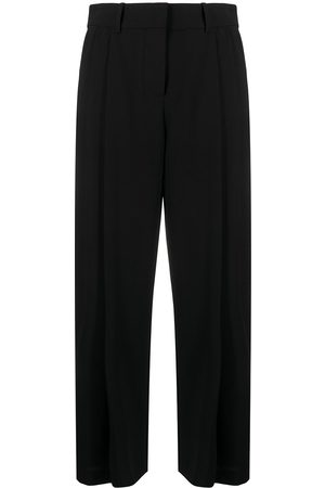 See by Chloé High-rise gathered straight-leg trousers