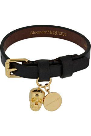 Alexander McQueen Single Wrap Leather Bracelet