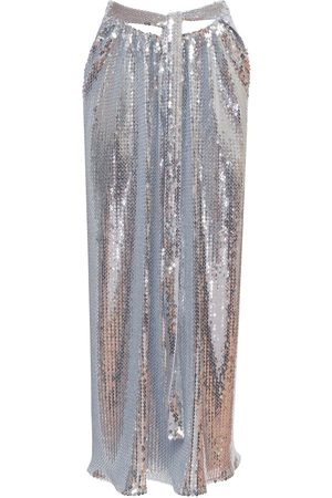 Paco rabanne Embroidered Jersey Sequined Midi Skirt