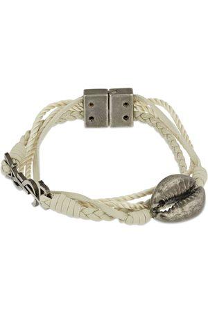 Saint Laurent Women Bracelets - Ysl Wrap Leather Bracelet