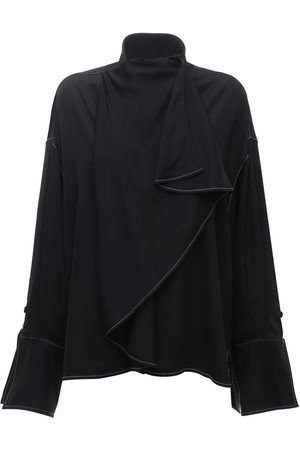Ellery Over-the-top Long Sleeve Satin Shirt