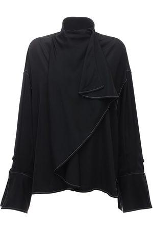 Ellery Over-the-top Long Sleeve Satin Shirt