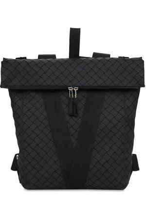 Bottega Veneta V Logo Rubberized Leather Backpack