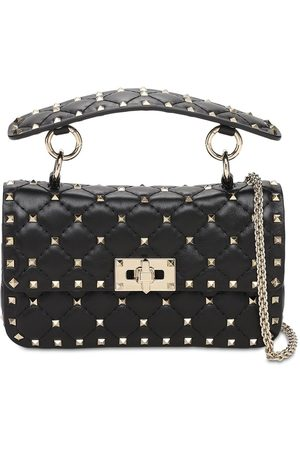 VALENTINO GARAVANI Small Spike Leather Shoulder Bag