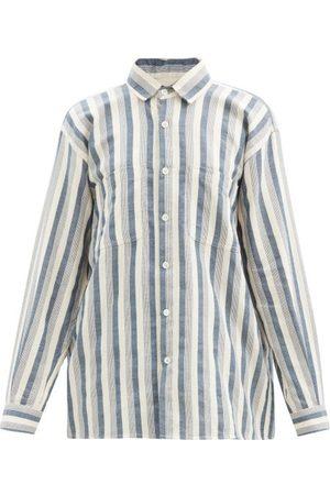 Marrakshi Life Striped Cotton-blend Oxford Shirt - Womens - Stripe
