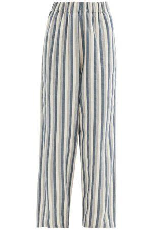 Marrakshi Life High-waist Cotton-blend Palazzo Trousers - Womens - Stripe