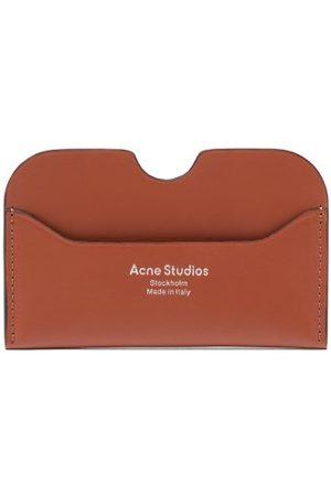 Acne Studios Elmas Foiled-logo Leather Cardholder - Womens - Tan