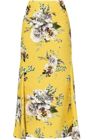 Erdem Ivetta Carnation-print Canvas Skirt - Womens - Print